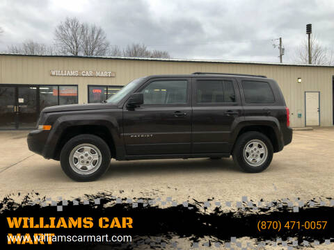 2014 Jeep Patriot for sale at WILLIAMS CAR MART in Gassville AR