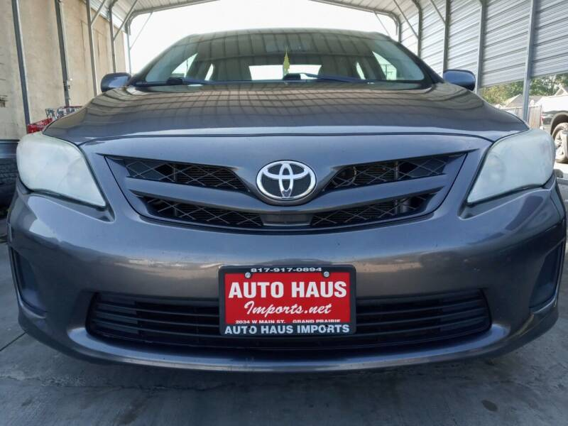 2012 Toyota Corolla for sale at Auto Haus Imports in Grand Prairie TX