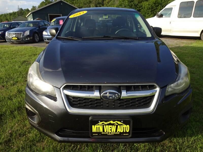 2013 Subaru Impreza for sale at MOUNTAIN VIEW AUTO in Lyndonville VT