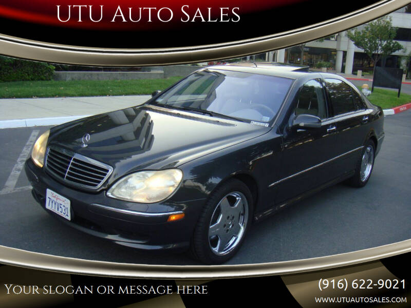 2001 Mercedes-Benz S-Class for sale at UTU Auto Sales in Sacramento CA