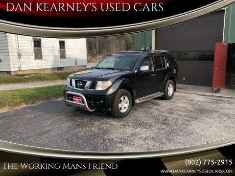 2007 Nissan Pathfinder for sale at DAN KEARNEY'S USED CARS in Center Rutland VT