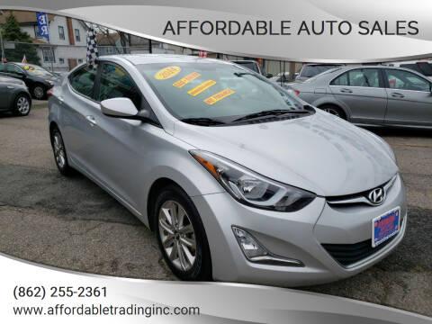 2014 Hyundai Elantra for sale at Affordable Auto Sales in Irvington NJ
