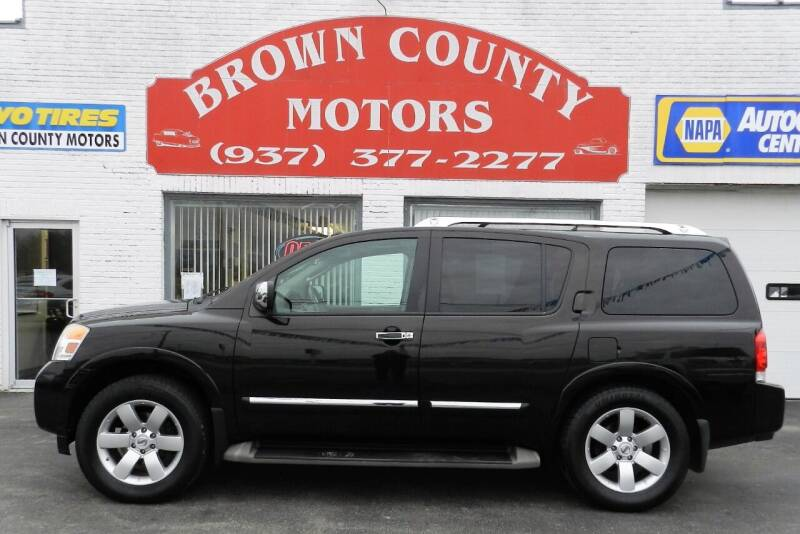 2012 Nissan Armada for sale at Brown County Motors in Russellville OH
