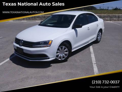 2015 Volkswagen Jetta for sale at Texas National Auto Sales in San Antonio TX