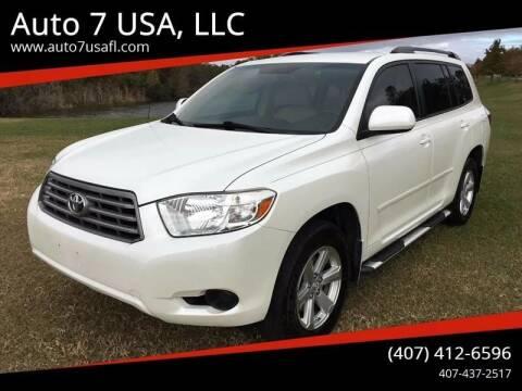 2008 Toyota Highlander for sale at Auto 7 USA, LLC in Orlando FL
