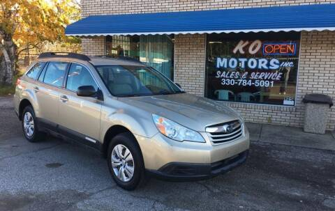 2010 Subaru Outback for sale at K O Motors in Akron OH
