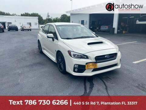 2017 Subaru WRX for sale at AUTOSHOW SALES & SERVICE in Plantation FL