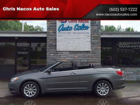 2012 Chrysler 200 Convertible for sale at Chris Nacos Auto Sales in Derry NH