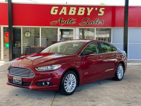 2014 Ford Fusion Energi for sale at GABBY'S AUTO SALES in Valparaiso IN