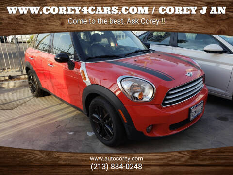 2012 MINI Cooper Countryman for sale at WWW.COREY4CARS.COM / COREY J AN in Los Angeles CA