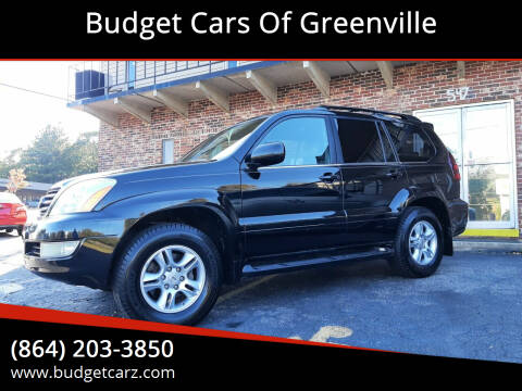 2005 Lexus GX 470 for sale at Budget Cars Of Greenville in Greenville SC