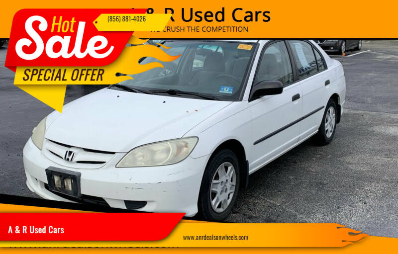 2004 Honda Civic for sale at A & R Used Cars in Clayton NJ