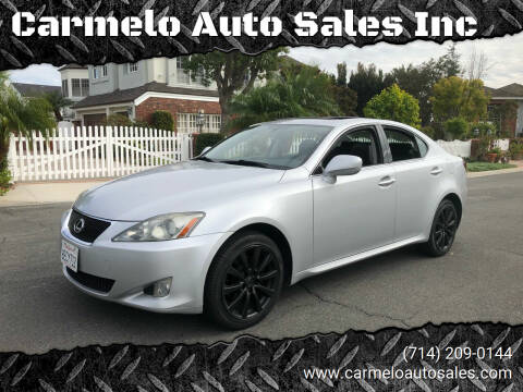 2006 Lexus IS 250 for sale at Carmelo Auto Sales Inc in Orange CA