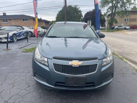 2012 Chevrolet Cruze for sale at RON'S AUTO SALES INC in Cicero IL