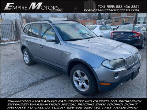 2007 BMW X3 for sale at Empire Motors LTD in Cleveland OH