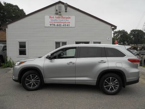 2018 Toyota Highlander for sale at BEST AUTO BARGAIN inc. in Lowell MA
