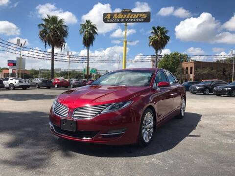 2014 Lincoln MKZ for sale at A MOTORS SALES AND FINANCE in San Antonio TX