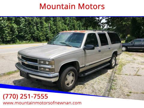 1999 Chevrolet Suburban for sale at Mountain Motors in Newnan GA