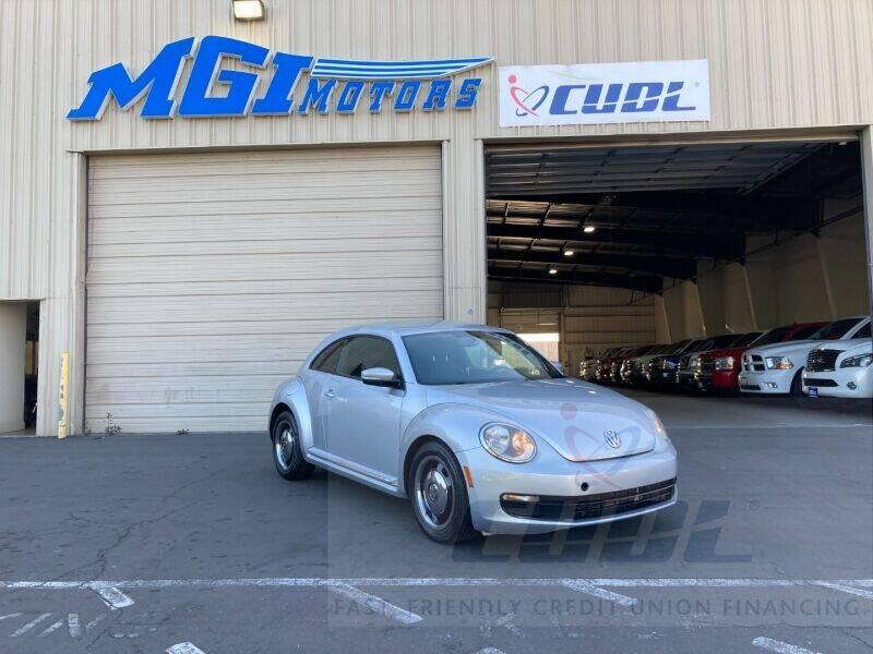 2012 Volkswagen Beetle for sale at MGI Motors in Sacramento CA