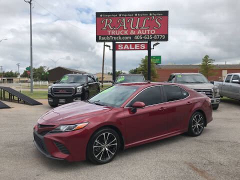 2018 Toyota Camry for sale at RAUL'S TRUCK & AUTO SALES, INC in Oklahoma City OK