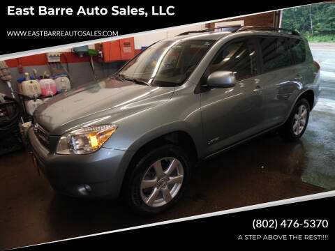 2008 Toyota RAV4 for sale at East Barre Auto Sales, LLC in East Barre VT
