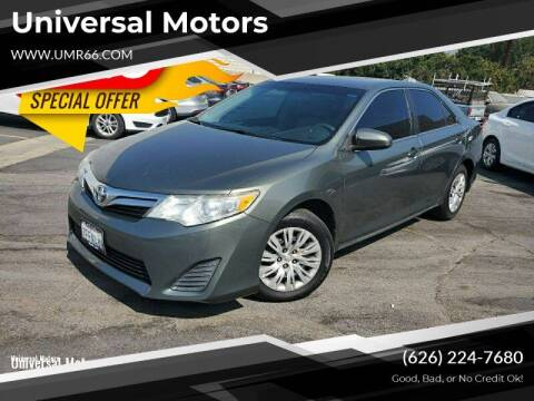 2014 Toyota Camry for sale at Universal Motors in Glendora CA