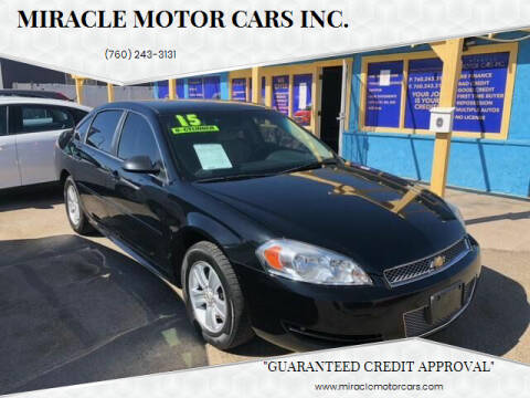 2015 Chevrolet Impala Limited for sale at Miracle Motor Cars Inc. in Victorville CA