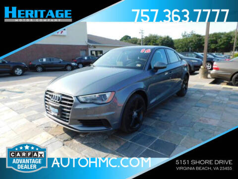 2016 Audi A3 for sale at Heritage Motor Company in Virginia Beach VA
