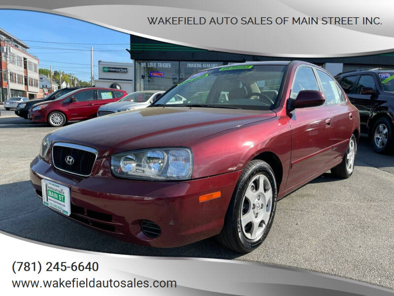 2002 Hyundai Elantra for sale at Wakefield Auto Sales of Main Street Inc. in Wakefield MA
