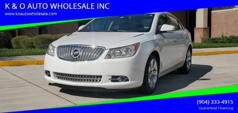 2012 Buick LaCrosse for sale at K & O AUTO WHOLESALE INC in Jacksonville FL