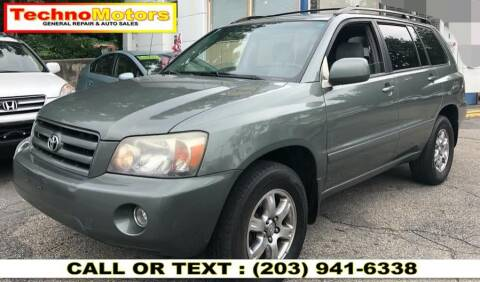 2006 Toyota Highlander for sale at Techno Motors in Danbury CT