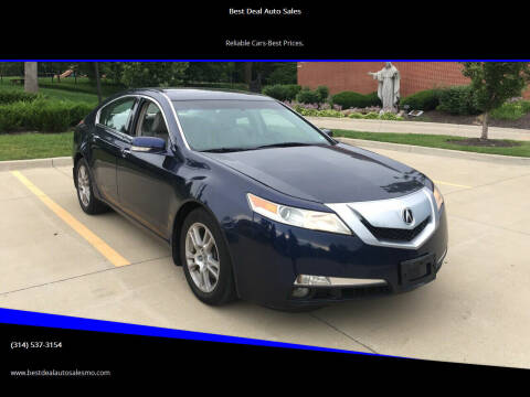 2009 Acura TL for sale at Best Deal Auto Sales in Saint Charles MO