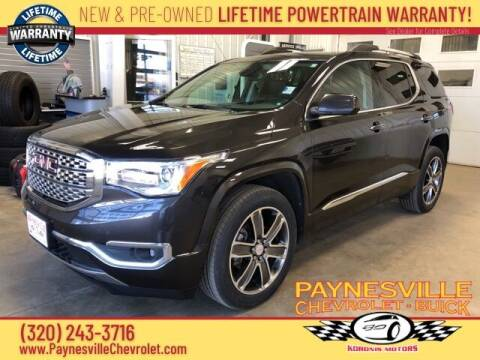 2017 GMC Acadia for sale at Paynesville Chevrolet - Buick in Paynesville MN
