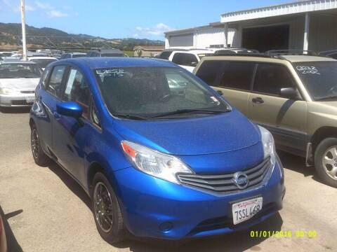 2015 Nissan Versa Note for sale at Mendocino Auto Auction in Ukiah CA