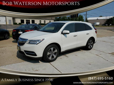 2015 Acura MDX for sale at Bob Waterson Motorsports in South Elgin IL