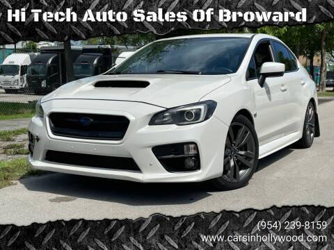 2016 Subaru WRX for sale at Hi Tech Auto Sales Of Broward in Hollywood FL