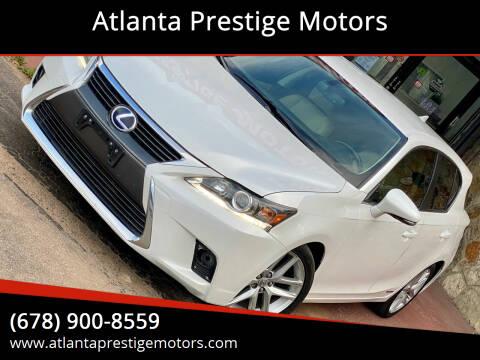 2016 Lexus CT 200h for sale at Atlanta Prestige Motors in Decatur GA