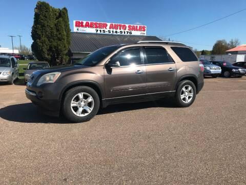 2009 GMC Acadia for sale at BLAESER AUTO LLC in Chippewa Falls WI