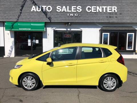 2015 Honda Fit for sale at Auto Sales Center Inc in Holyoke MA