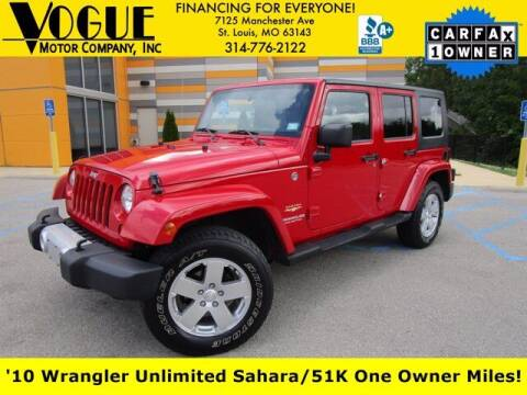 2010 Jeep Wrangler Unlimited for sale at Vogue Motor Company Inc in Saint Louis MO