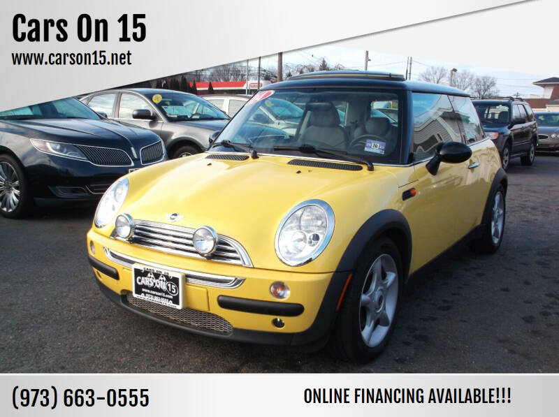 2004 MINI Cooper for sale at Cars On 15 in Lake Hopatcong NJ