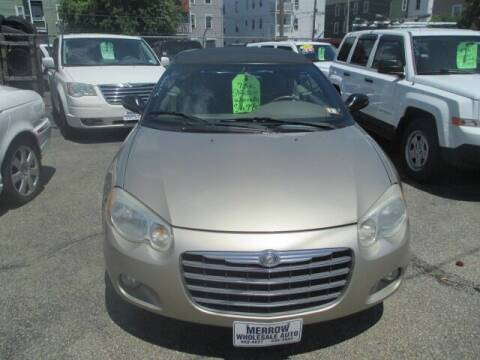 2004 Chrysler Sebring for sale at MERROW WHOLESALE AUTO in Manchester NH