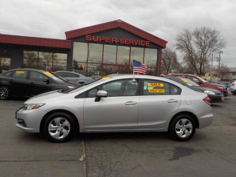 2015 Honda Civic for sale at Super Service Used Cars in Milwaukee WI
