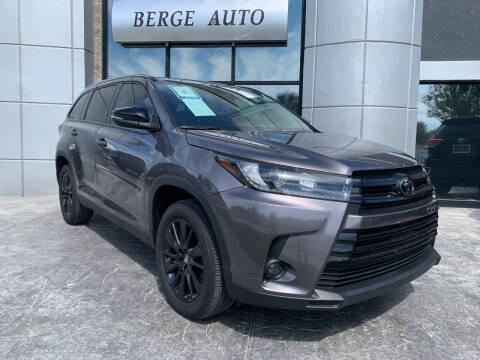 2019 Toyota Highlander for sale at Berge Auto in Orem UT