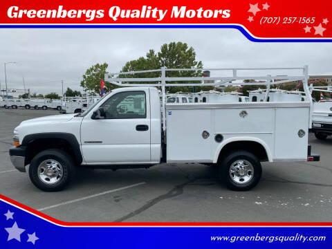 2002 Chevrolet Silverado 2500HD for sale at Greenbergs Quality Motors in Napa CA