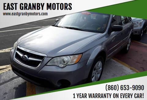 2008 Subaru Outback for sale at EAST GRANBY MOTORS in East Granby CT