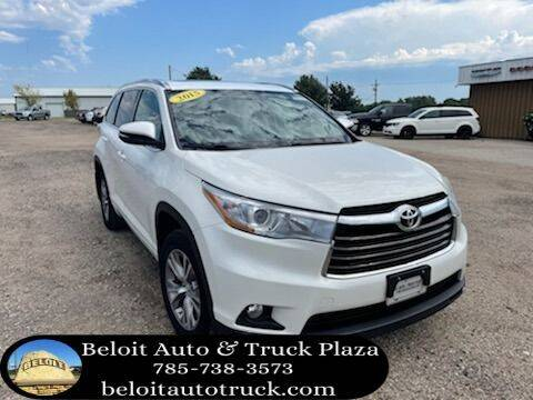 2015 Toyota Highlander for sale at BELOIT AUTO & TRUCK PLAZA INC in Beloit KS