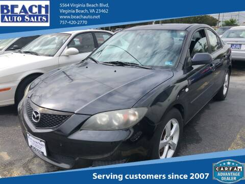 2006 Mazda MAZDA3 for sale at Beach Auto Sales in Virginia Beach VA
