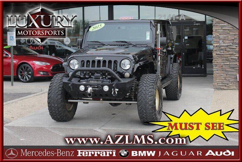 2015 Jeep Wrangler Unlimited for sale at Luxury Motorsports in Phoenix AZ