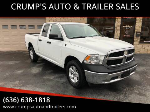 2016 RAM Ram Pickup 1500 for sale at CRUMP'S AUTO & TRAILER SALES in Crystal City MO